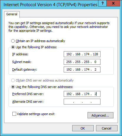 static ip settings