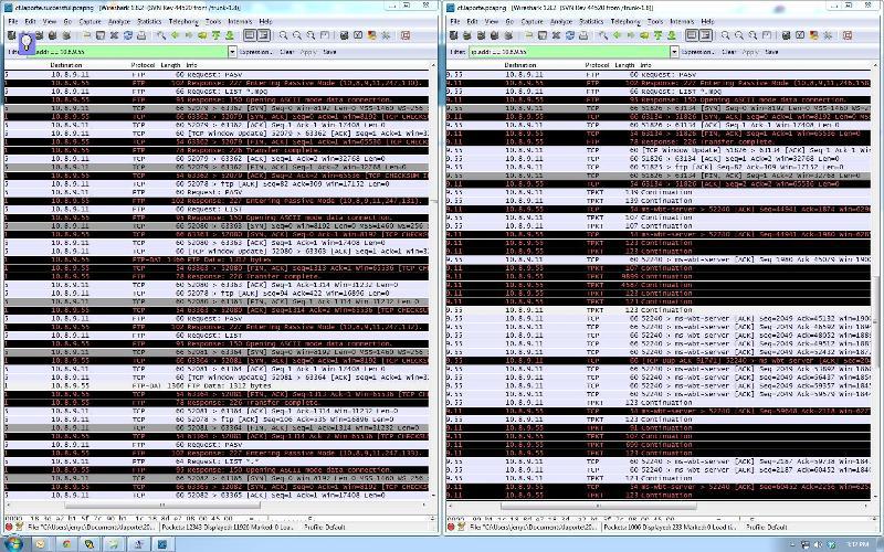 Screenshot of traces