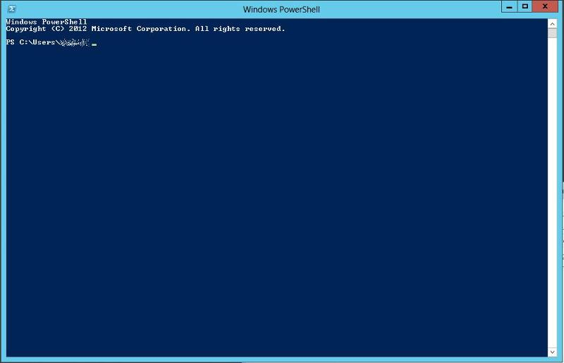 Starting Windows Powershell