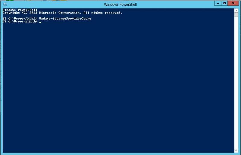 Update-StorageProviderCache
