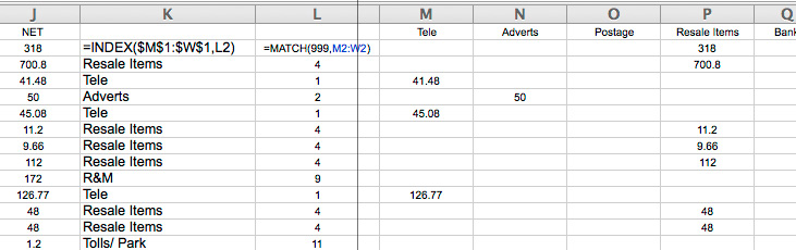 Match and Index capture headings