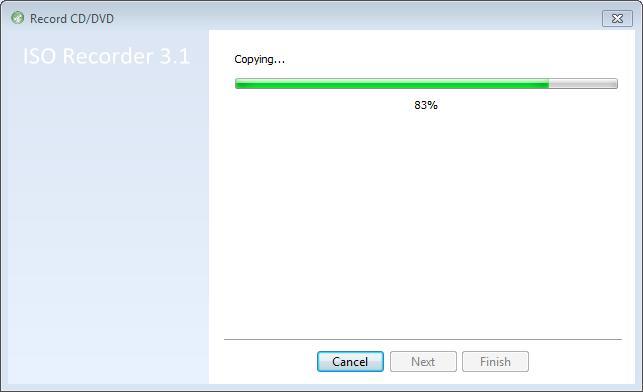 83 percent complete...