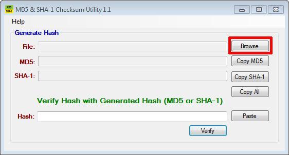 MD5 SHA-1 Checksum Utility