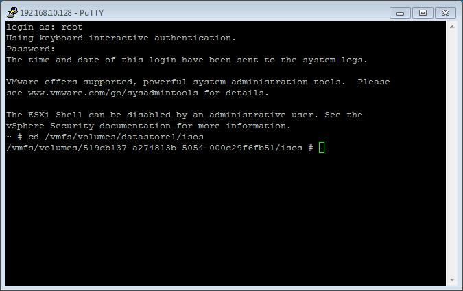 esxi download iso to datastore