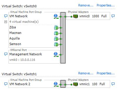 Vsphere networking screenshot