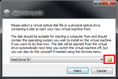 Select a Start-up Disk