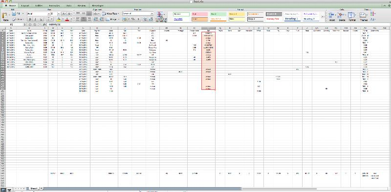 Traditional Bookkeeping Spreadsheet