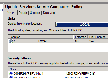 Server Computers Policy - Scope