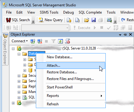MS SQL Attach Database