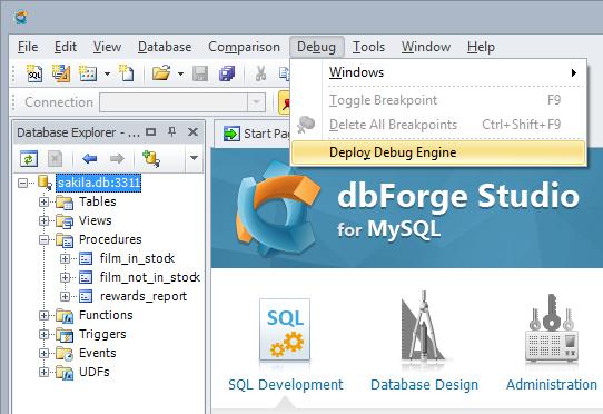 Deploying dForge Debug Engine