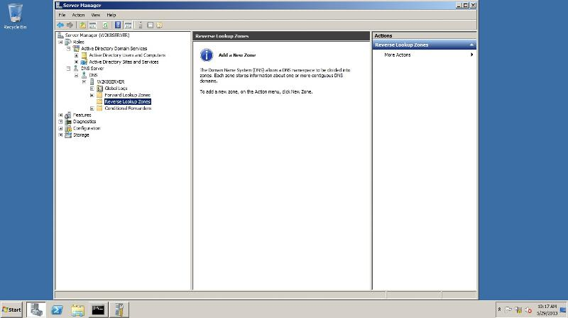 Active Directory and DNS in w2k8serverR2