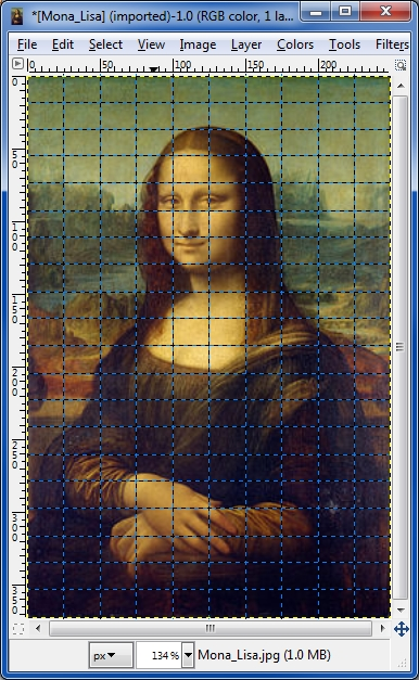 mona lisa gimp grid plugin
