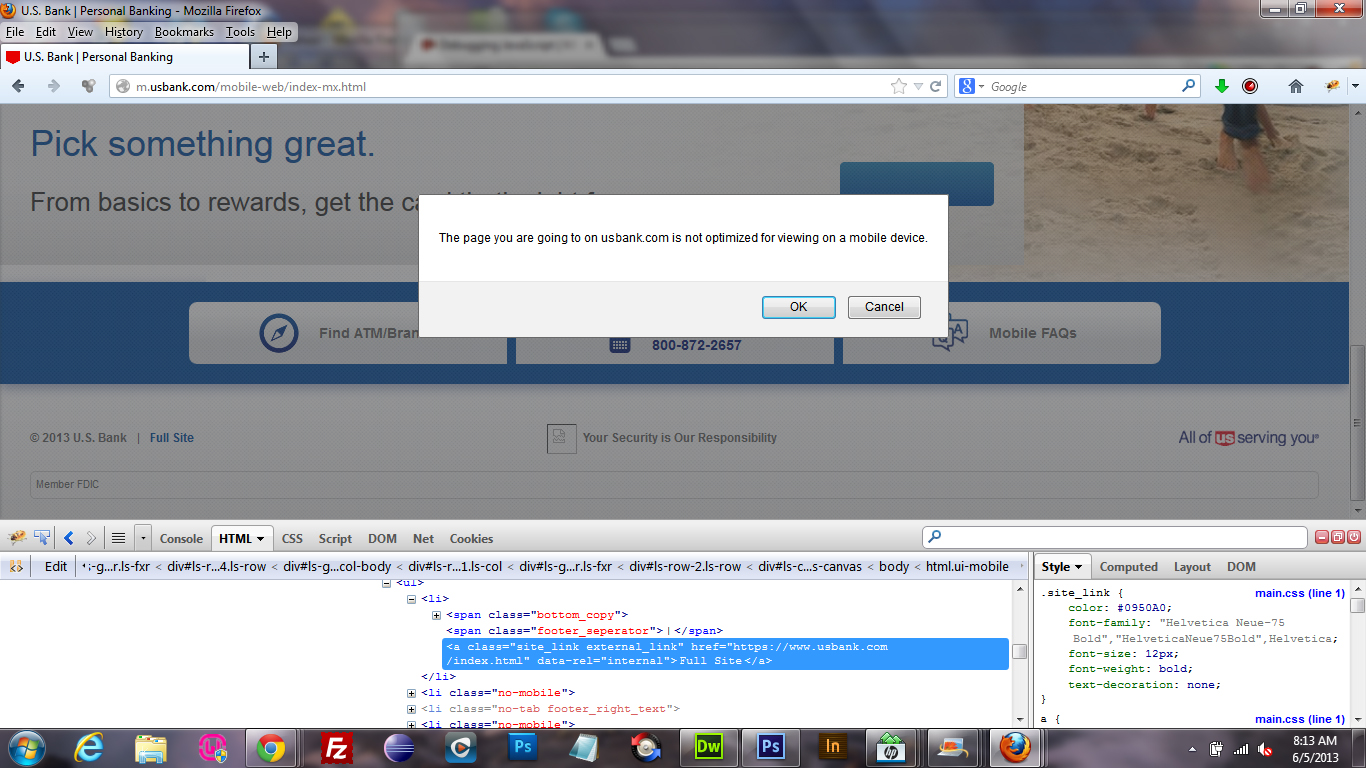Can' seem to inspect modal popup in chrome developer tools or firebug