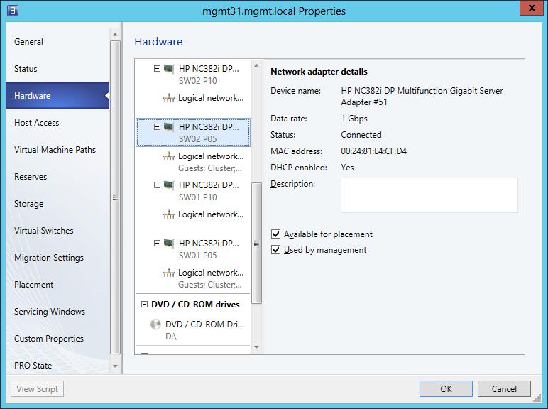 Network Adapter Details