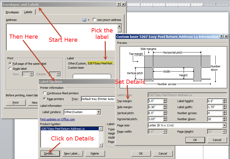 Word 2007 how to centre text in a label horizontally and vertically