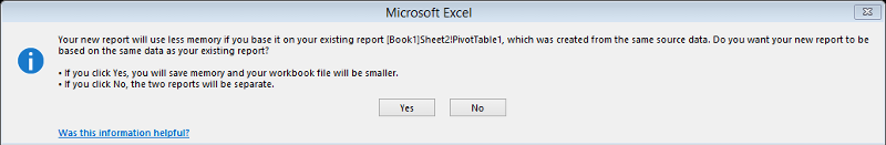 Separate a PivotTable