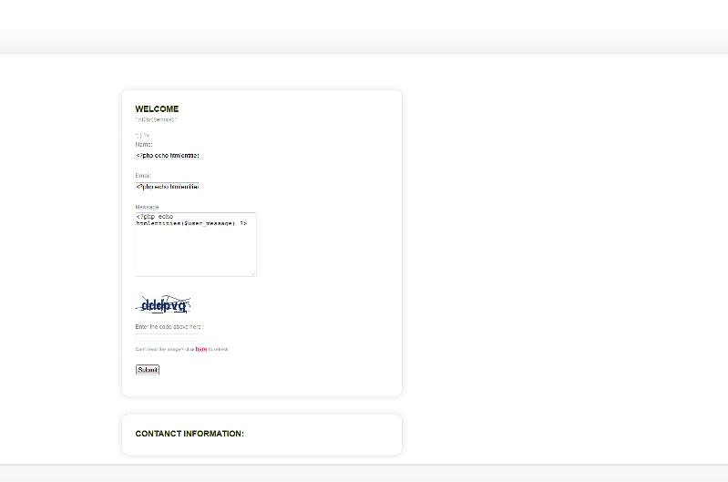 snapshot of email form