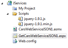 my app directory in Visual Studio 2010