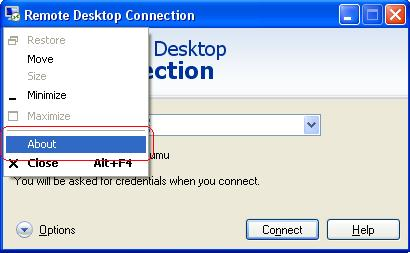Remote Desktop Connection client.