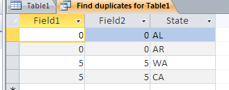Duplicate Query Result - Original