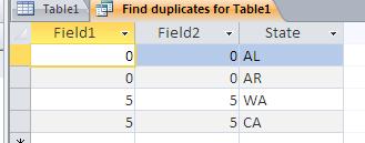 Duplicate Query Result - Original