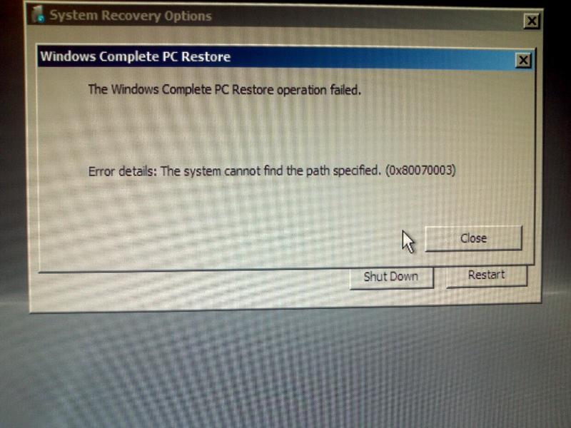 Error 80070003