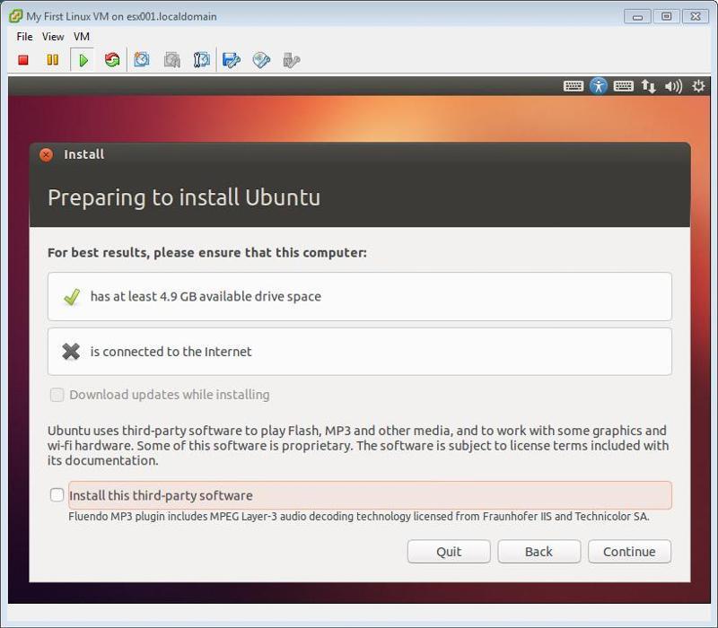 Ubuntu Installation Continue