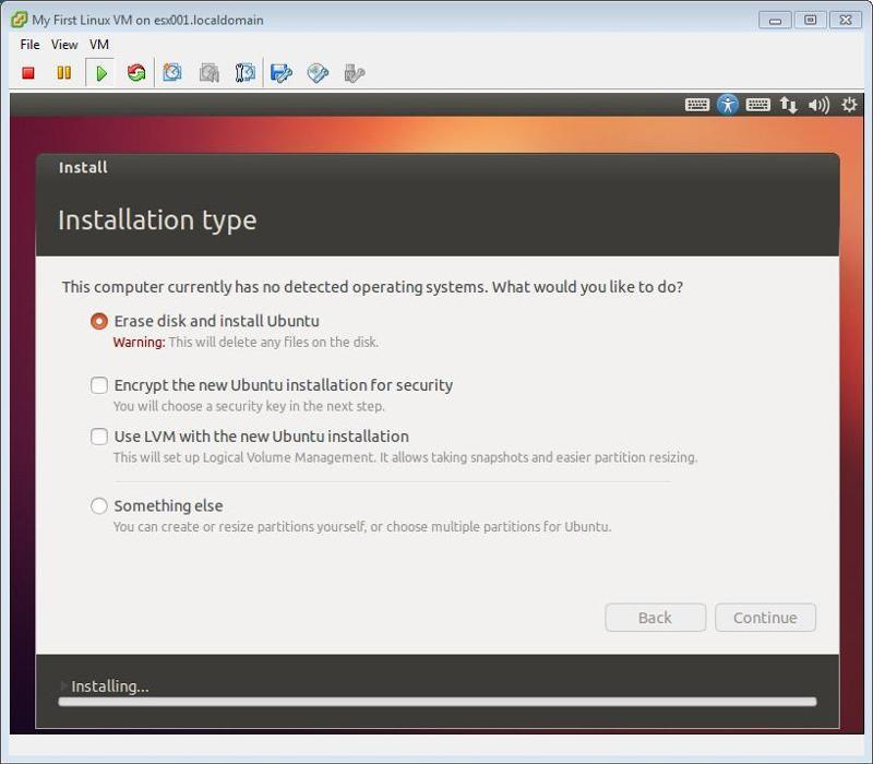 Ubuntu Installation Continue 2