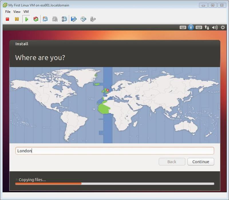 Ubuntu Installation Time Zone - London