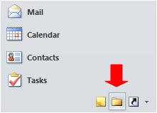 Folder List button in Outlook 2010