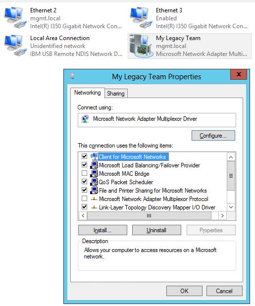 Legacy Teaming