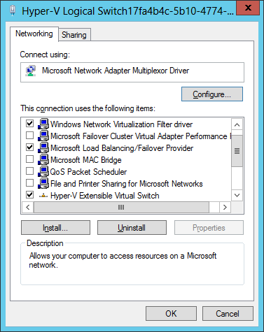 Network Virtualization Filter Driver