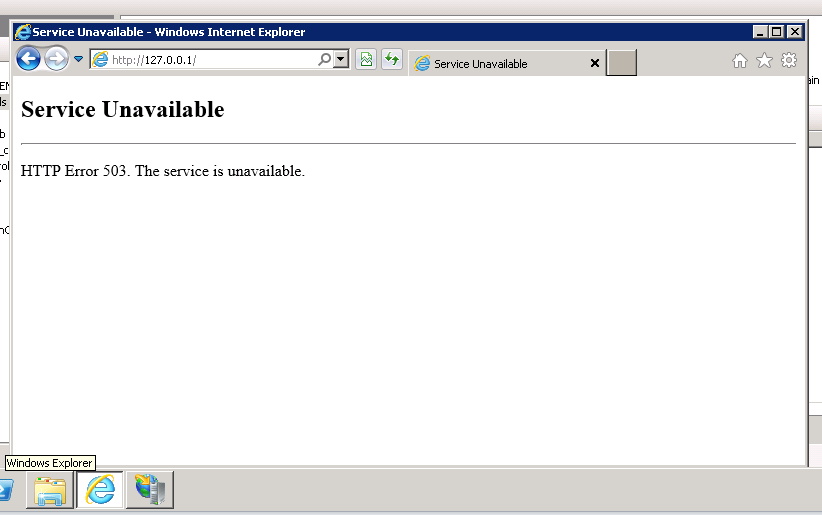 what is http error 503 service unavailable