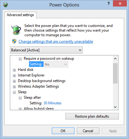 A simple change in the power settings fixes this.