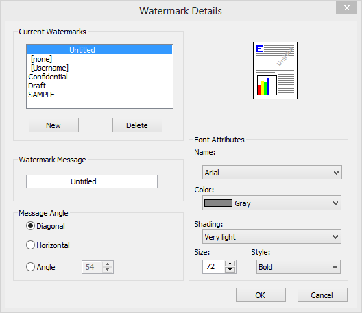 watermark settings LJ M475dn