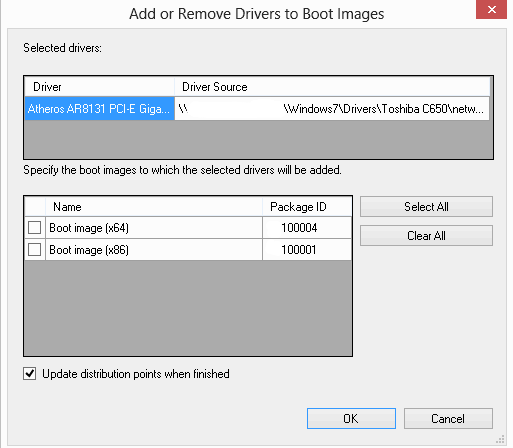 Add the driver to the required boot image