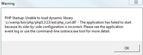 curl not loading dialog box