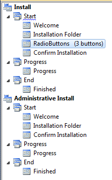 user interface in setup and deployment