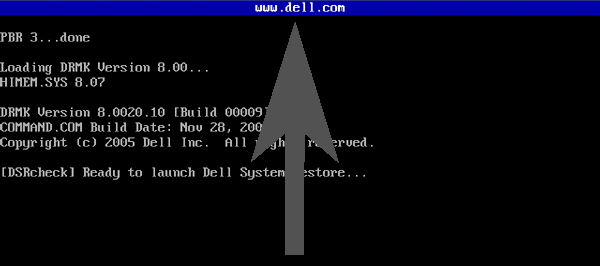 'blue bar' indicating presence of Dell MBR in XP