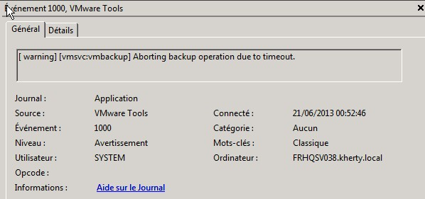Unable to backup Virtual Machine, quiescing!