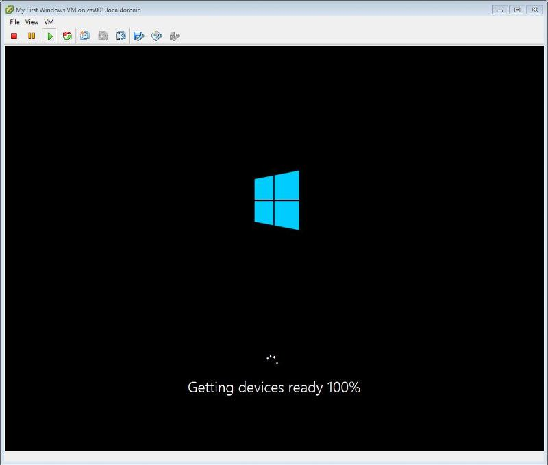 Windows 2012 Installation -  Getting devices ready 100 percent