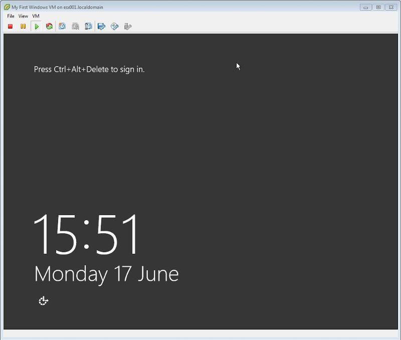 Windows 2012 Installation -  Complete