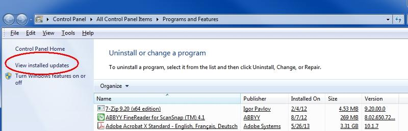 programs-features-view-installed-updates