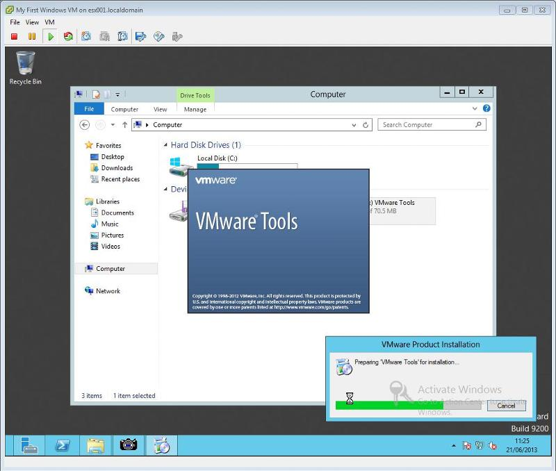 VMware Tools for Windows Installation Step 3 - VMware Tools Installation starts