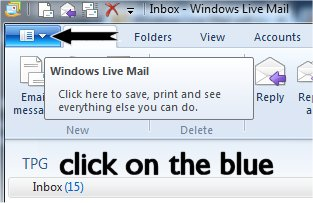 click on Blue tab