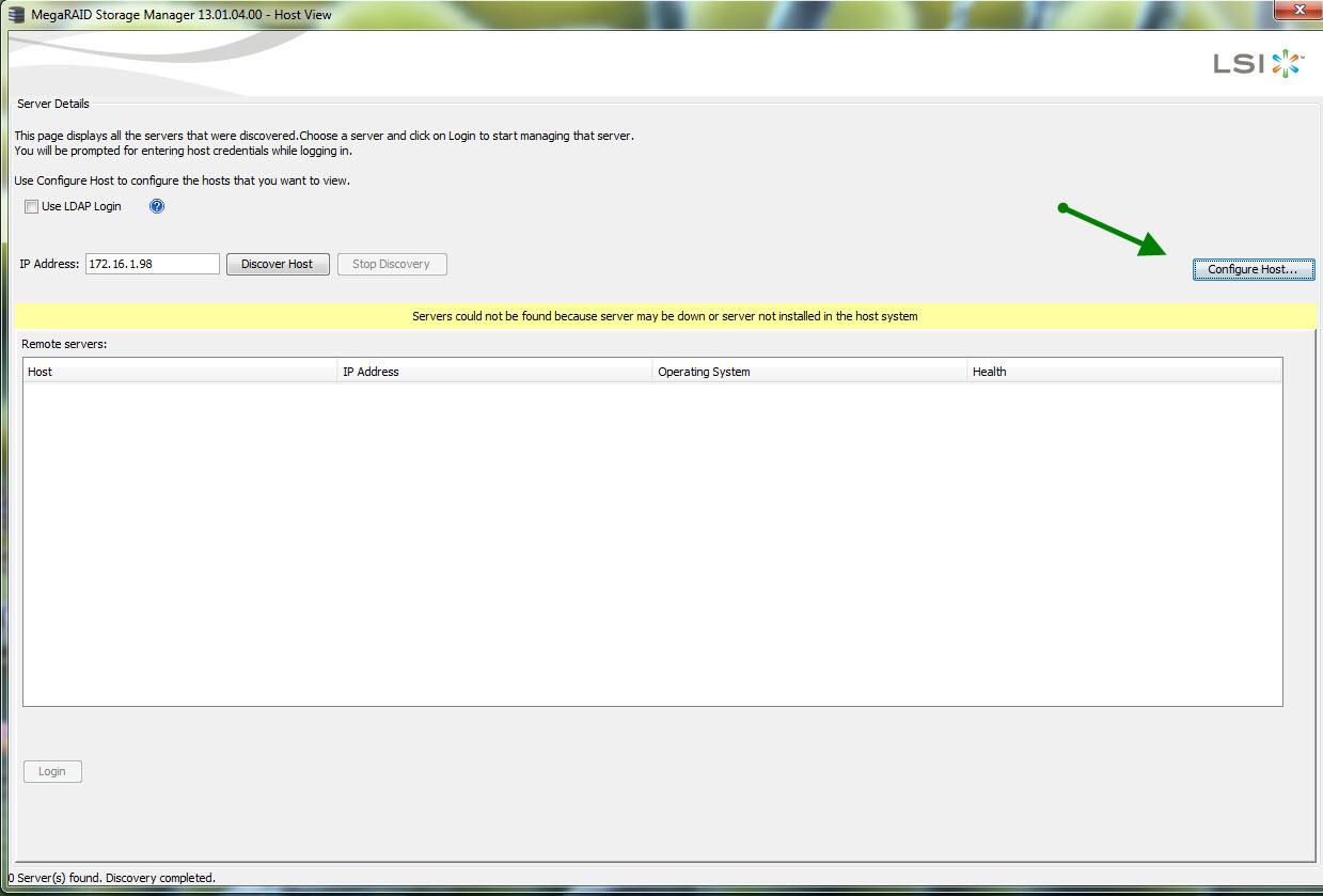 IBM ServeRAID LSI Mega Raid Manager on VMware
