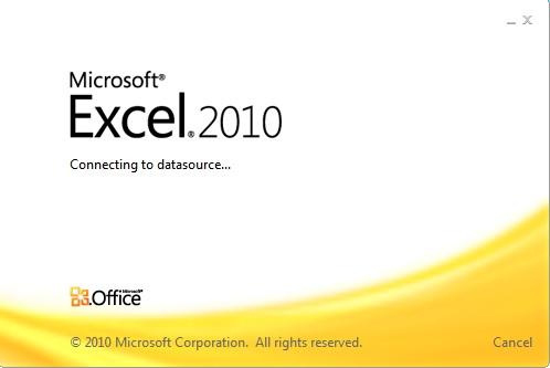Excel 2010 Loading