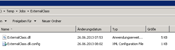 External assembly and config file