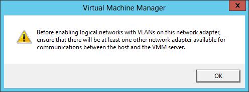 VLAN Warning