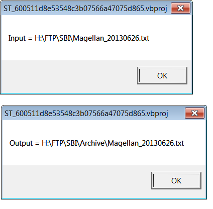 input file, output file variables